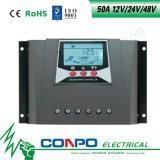 50A、12V/24V/48VのLCDの太陽コントローラ