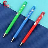 Pluma de bola plástica modificada para requisitos particulares de las fuentes de escuela del papel de la pluma de la insignia en venta
