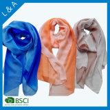 Silk Paj handgemaltes langes Schal-Blau