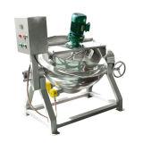 50 litros que inclinam a chaleira elétrica do revestimento de aquecimento com misturador