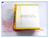 3.7 V таблетки батарей 2.8*97*100 полимера лития перезаряжаемые