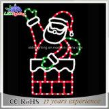 Santa e suas luzes do motivo da corda do Natal do diodo emissor de luz da bicicleta