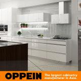 Armadi da cucina moderni della lacca di lucentezza di vendita calda di Oppein alti (OP16-L09)