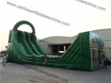21X6X10m Green Color Jungle Giant Zip Line Inflatable Slide Suit per Adults e Kids Play