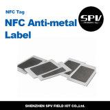 Ultraligero de papel del Hf 13.56MHz de la etiqueta del Anti-Metal de Nfc