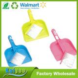 Petite brosse de nettoyage en plastique pliable avec poêle à poussière
