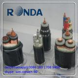A alimentação fonte 400 o cabo elétrico de cobre de Sqmm 0.6kv
