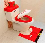 Siège des toilettes Cover et Rug Set de Bathroom Decoration Happy Santa de Noël