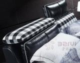 중국 침대 머리를 가진 현대 침실 가구 니스 연약한 가죽 침대