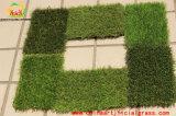 Grama ajardinando artificial para o jardim com certificação de RoHS