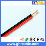 Rot und Black Transparent Flexible Speaker Cable (2X1.0mmsq CCA Conductor)