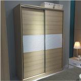 Cuatro puertas que resbalan el guardarropa de madera con el aparador (WW-003)