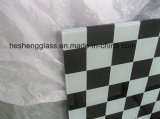 10mm Black and White Squares Tempered Glass com CCC Certificate