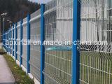 Изогнутая промышленная панель ячеистой сети загородки покрынная PVC сваренная