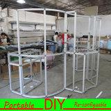 Carrinhos de exposição de alumínio modulares portáteis feitos sob encomenda da exposição da onda do sistema