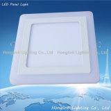 3W 6W 12W 18W Double Color Square SMD LED Panel Light für House Ceiling