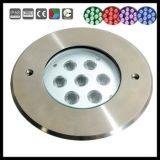 Indicatore luminoso subacqueo del raggruppamento dell'acciaio inossidabile 6With18W IP68 LED