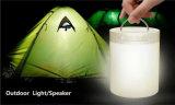 Haut-parleur sans fil portatif extérieur de Bluetooth avec la lumière à commande par effleurement de nuit (ID6006)