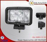 Luz de trabajo del CREE 60W 2688lm Pi68 LED con la viga de punto