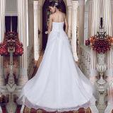 Laço Strapless que perla os vestidos de casamento reais das fotos (TM-MS012)