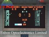 Farbenreiche LED-Anzeigetafel für Innenbasketballspiel