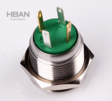 IP65 Impermeable 16mm Momentary (reset) Anillo Iluminado Verde Botones pulsadores
