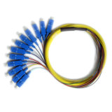 Отрезок провода оптического волокна разветвителя 12 сердечников с разъемом St FC LC Sc
