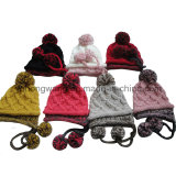 Kundenspezifischer Winterwarmer gestrickter Beanie-Schädel-Acrylhut/Schutzkappe