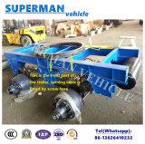 8m cargaison de traction à plat de chariot de 4 essieux troquent complètement semi la remorque