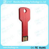 Roja del metal de aluminio de 8 GB de memoria USB con logotipo personalizado (ZYF1725)