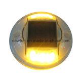 Lumière en plastique de plots réflectorisés d'IP68 DEL/goujon solaire de route