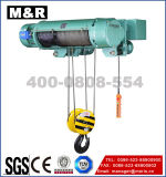 1000kg Electric Hoist van Wire Rope met Single Speed