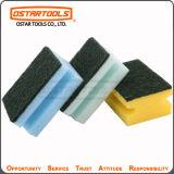 Almofada de limpeza Grooved da esponja de celulose com logotipo personalizado