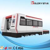cortadora del laser de la fibra del metal 1kw con recinto completo