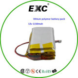 503759 3s Lithium Polymer Battery Pack 12V 1150mAh李Ion Battery Packs