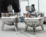 Chaleira Jacketed do dobro do aquecimento de vapor com misturador