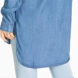 Het in het groot Overhemd van het Denim van de Vriend van Feminino Swag van Jeans Camisa Lange