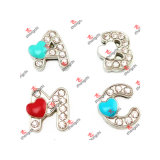 Zinc Alloy all'ingrosso Metal 8mm Slide Letters Alphabet Charms (SLA50918)