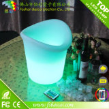 Seau à glace de bière de LED/seau à glace imperméable à l'eau de PE