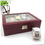 plutônio Leather Watch Box de Slots Crocodile da forma 10 para Man