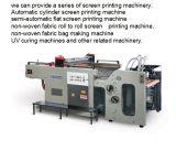 Um rolo automático cheio da cor para rolar a máquina de impressão não tecida da tela do logotipo do saco de Fabrc