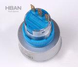 interruptor modificado para requisitos particulares iluminado 22m m del plástico del pulsador del rectángulo de Eplise del modelo