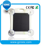 Chargeur mobile de côté d'énergie solaire avec l'éclairage LED de détecteur de guichet