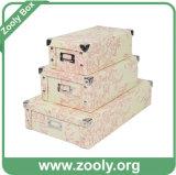 Универсальная бумажная складная коробка хранения/складывая бумажная коробка с углом металла