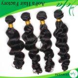 100%の加工されていなく自然なブラジルのバージンの毛のRemyの人間の毛髪のよこ糸
