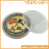 Pièce de monnaie faite sur commande promotionnelle d'enjeu dans le placage à l'or (YB-Co-03)