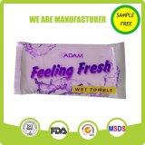Fornecedor molhado brandamente fresco de toalha do preço de fábrica