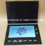 Saluto Card/LCD dell'affissione a cristalli liquidi da 10 pollici che fa pubblicità al libro/video opuscolo blu