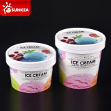 20oz 26oz 32oz 36oz grande tasse de papier de crème glacée glacée avec le couvercle/couverture