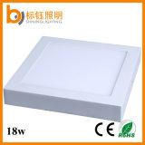 El panel montado superficie ligera casera cuadrada LED de la lámpara del techo SMD2835 de la fábrica 18W de la fabricación de la iluminación de la calidad